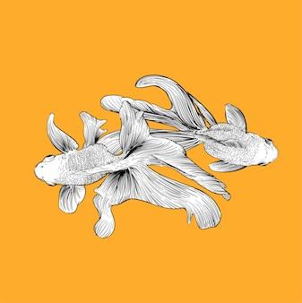 Mão, desenho, ilustração, de, individualidade, conceito