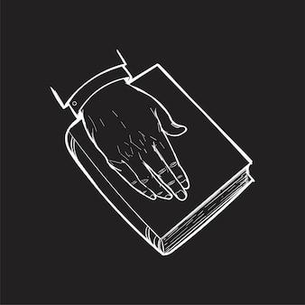 Mão, desenho, ilustração, de, justiça, conceito