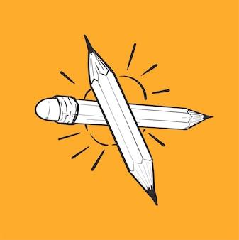 Mão, desenho, ilustração, de, liderança, conceito