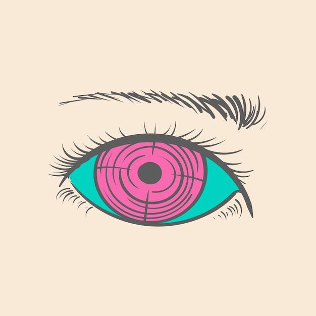 Mão, desenho, ilustração, de, objetivo, objetivo, conceito
