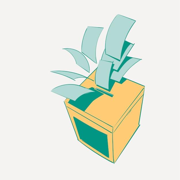 Mão, desenho, ilustração, jogo, de, eleição