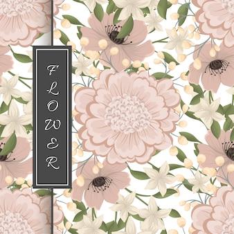 Mão, desenho, seamless, padrão floral