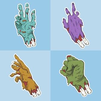 Mão do conjunto de zumbi