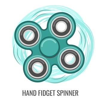 Mão em movimento fidget spinner cor verde brinquedo