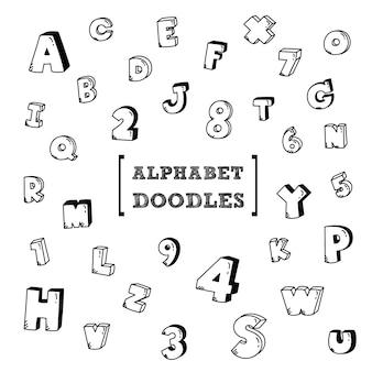 Mão escrevendo estilos de letras maiúsculas.