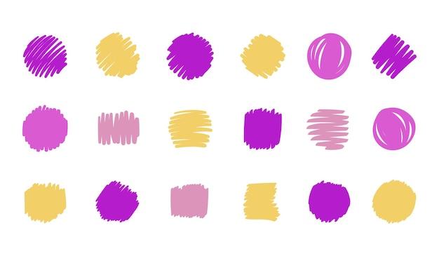 Mão-extraídas coleção de elementos de vetor de artes abstratas. formas orgânicas e design de pincel para capa, plano de fundo do banner. postagem social e decoração de fundo de histórias. ilustração vetorial
