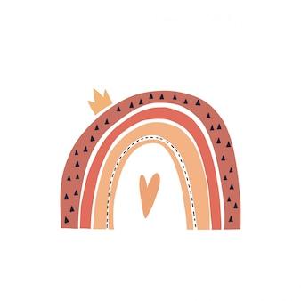 Mão-extraídas ilustração de um arco-íris bonitinho.