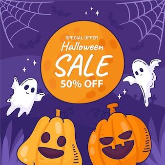 Mão-extraídas ilustração de venda de halloween
