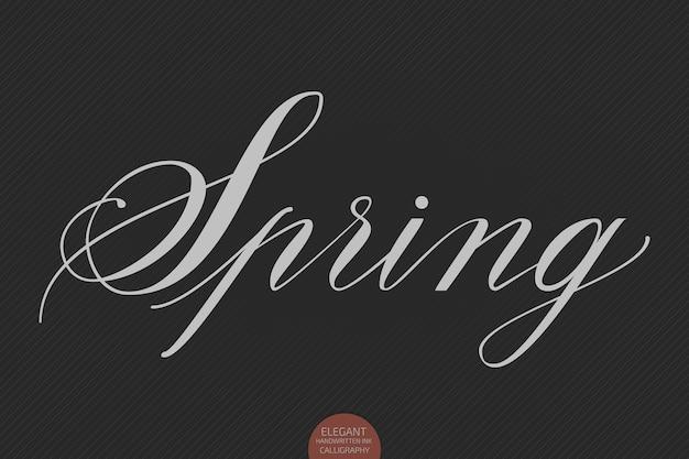 Mão-extraídas letras de primavera.
