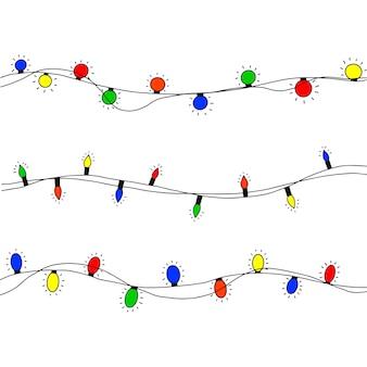 Mão-extraídas luzes de natal.