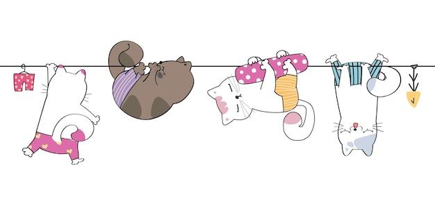 Mão fofa desenhando ilustração engraçada de animal selvagem