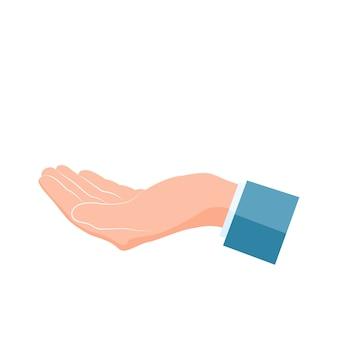 Mão humana com palma para cima