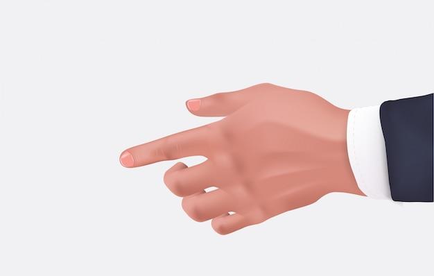 Mão humana, homem negócios, realístico