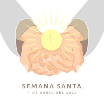 Mão ilustrações desenhadas do evento da semana santa