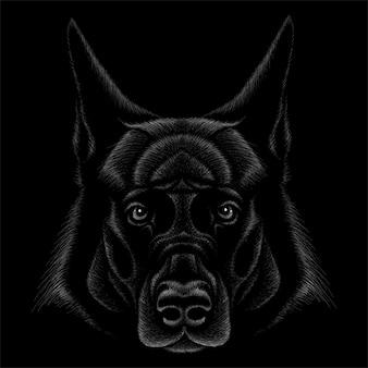 Mão ilustrações desenhadas no estilo de giz de cachorro