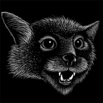 Mão ilustrações desenhadas no estilo de giz de gato