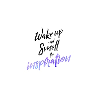 Mão lettering motivational quote