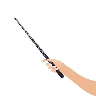 Mão mágica wandin para bruxas e assistentes varas vintage escolas de bruxaria jogos de fantasia