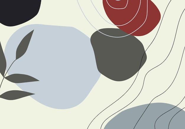 Mão mínima abstrata desenhar o plano de fundo. ilustração vetorial. fundo abstrato.