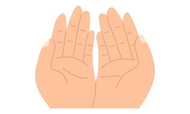 Mão muçulmana rezando isolada