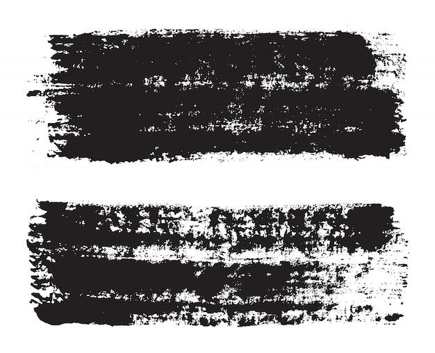 Mão negra pintada pinceladas