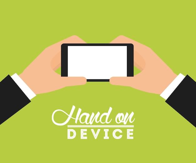 Mão no dispositivo