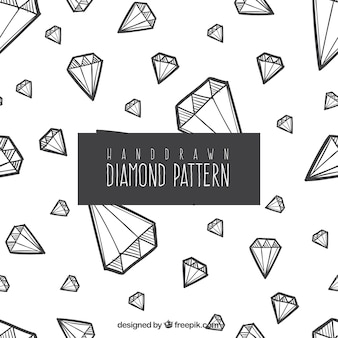 Mão padrão de diamante desenhado