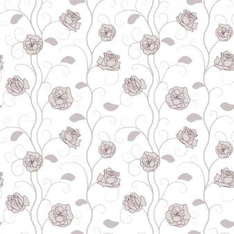 Mão padrão floral drawn