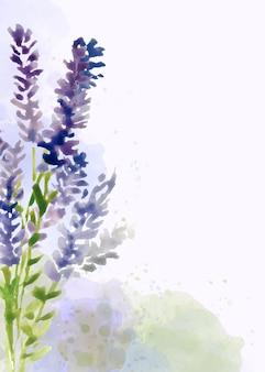 Mão pintado fundo floral em estilo aquarela