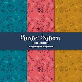 Mão, puxado, jogo, pirata, padrões