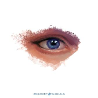 Mão realista olho pintado