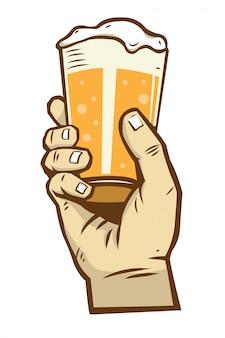 Mão, segurando, cerveja, 2