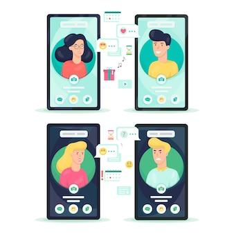 Mão segurando o celular com o avatar da pessoa na tela