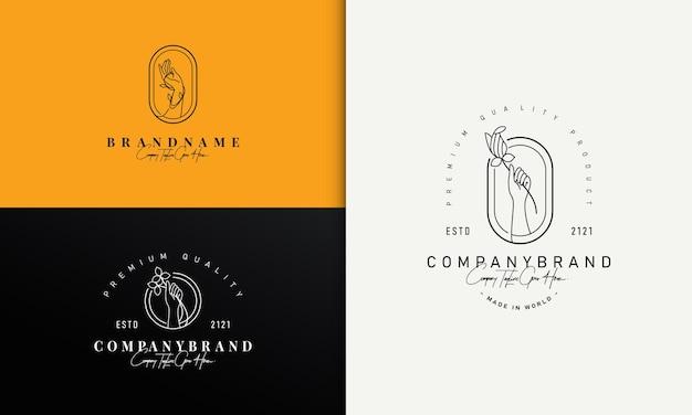 Mão segurando o logotipo do nature botanic