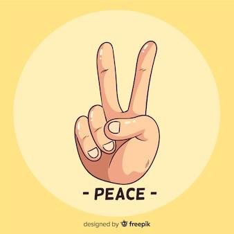 Mão sinal de paz