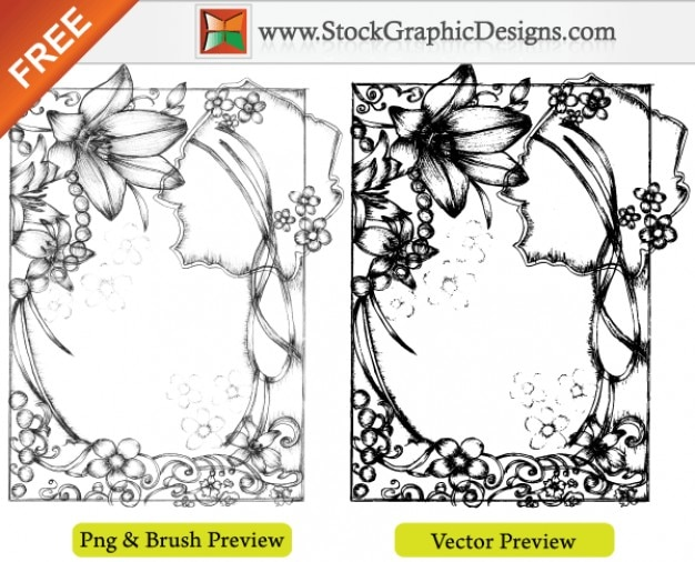 Mão sketchy drawn grátis vector illustration frames