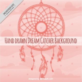 Mão sonho fundo desenhado catcher