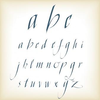 Mão tipografia escrita