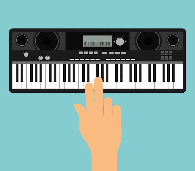 Mão tocar piano