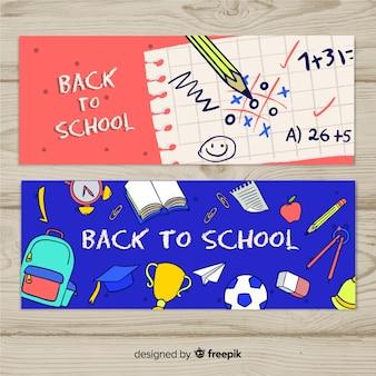 Mão, trazida de volta ao banner da escola