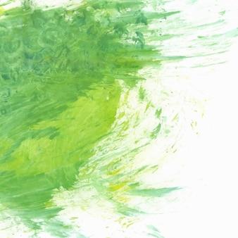 Mão verde fundo pintado