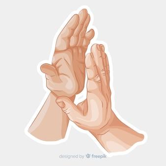 Mãos batendo palmas