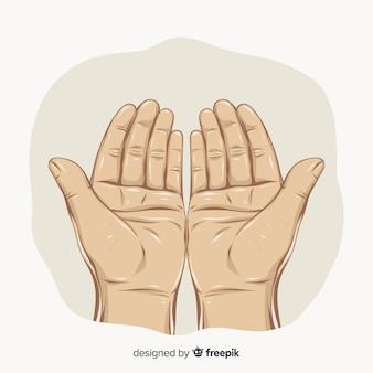 Mãos de oração realistas