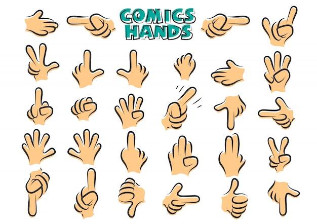 Mãos de quadrinhos