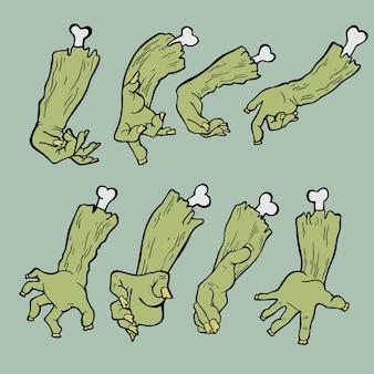 Mãos de zumbi