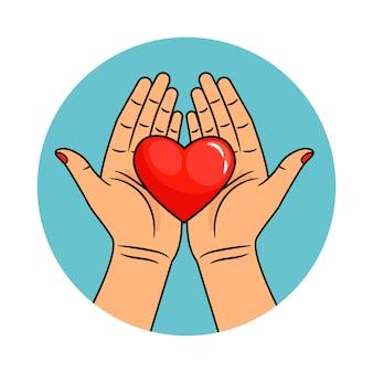 Mãos e coração