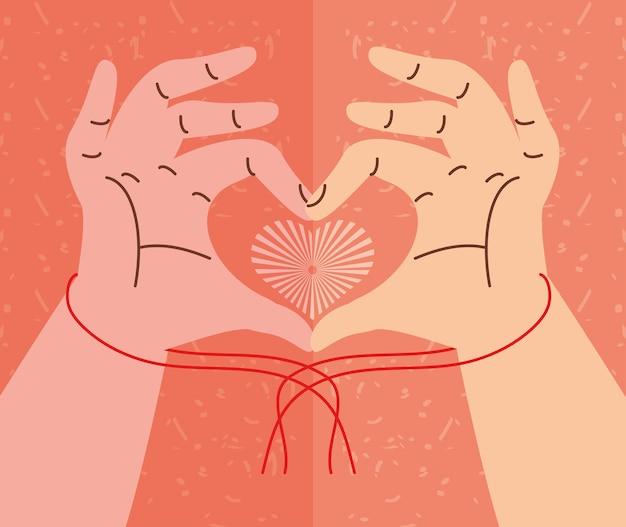 Mãos em forma de coração