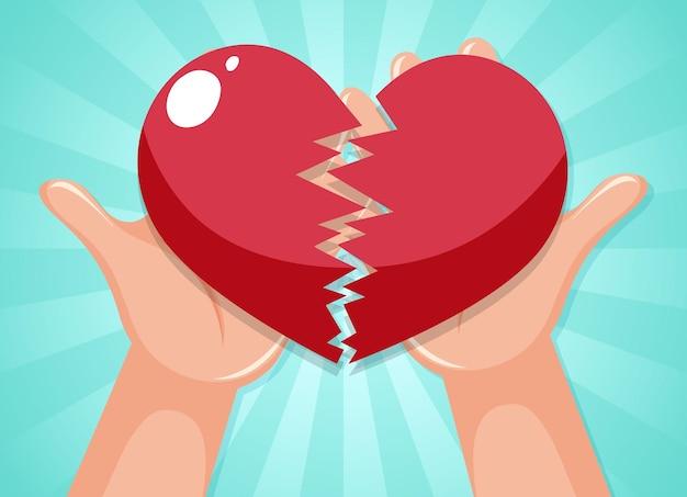 Mãos humanas segurando um coração