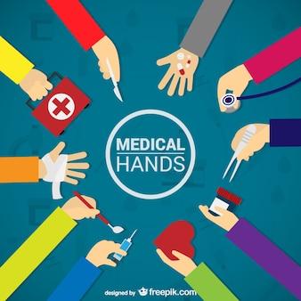 Mãos médicas