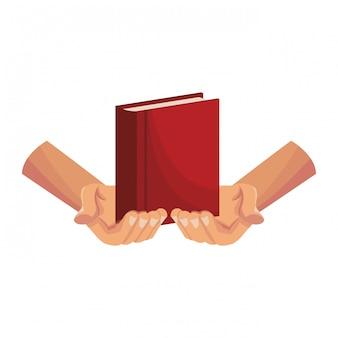 Mãos, segurando, bíblia